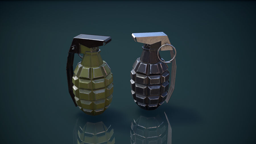 Grenade MK2 royalty-free 3d model - Preview no. 12
