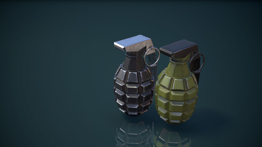Grenade MK2 royalty-free 3d model - Preview no. 14
