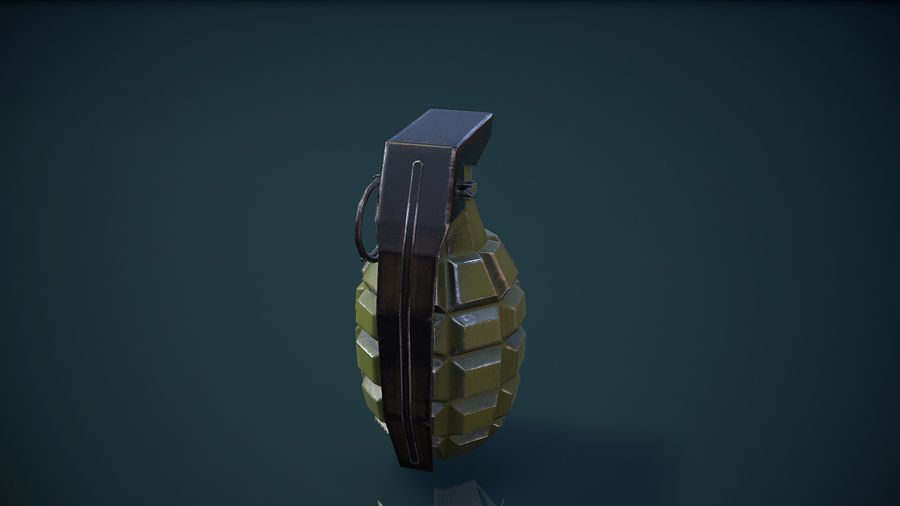 Grenade MK2 royalty-free 3d model - Preview no. 4