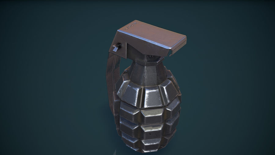 Grenade MK2 royalty-free 3d model - Preview no. 11