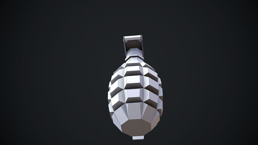 Grenade MK2 royalty-free 3d model - Preview no. 17
