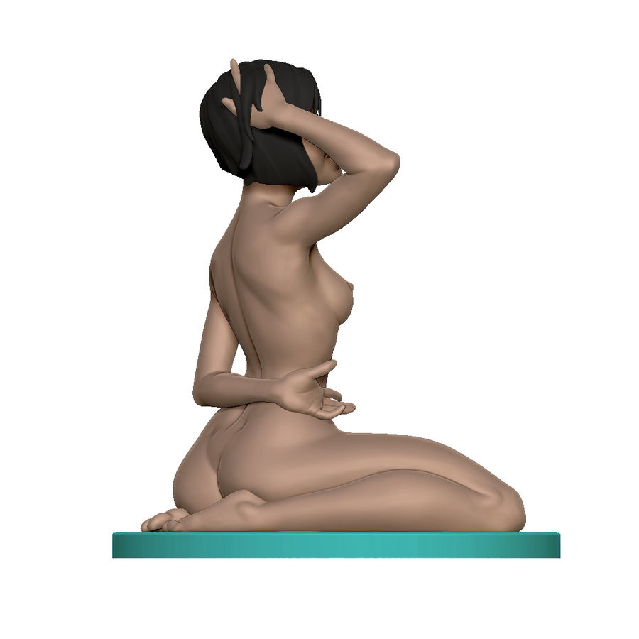 Nude Lady royalty-free 3d model - Preview no. 7
