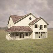 Opuszczony dom wiejski 3d model