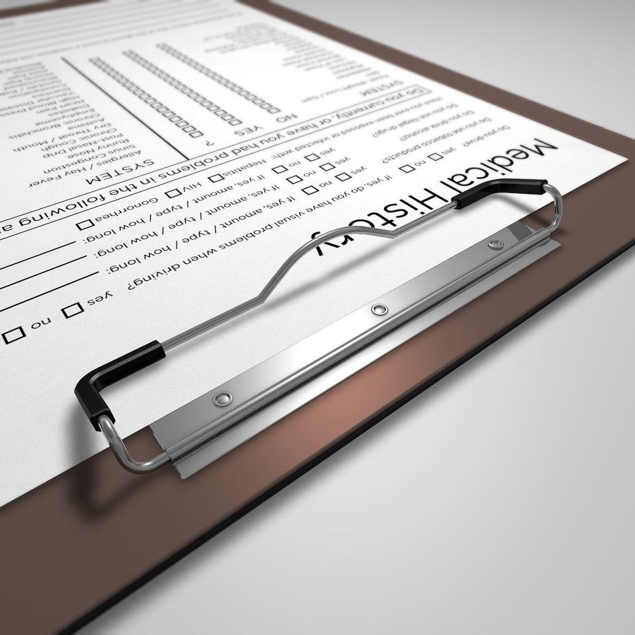 クリップボード royalty-free 3d model - Preview no. 2