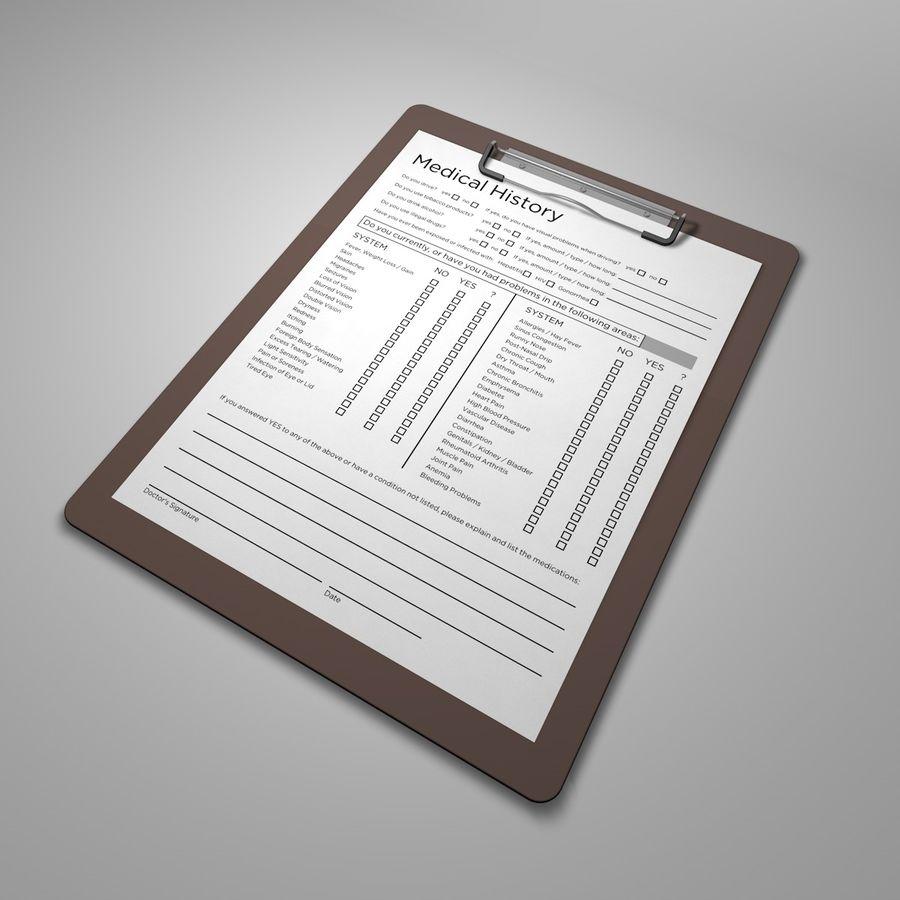 クリップボード royalty-free 3d model - Preview no. 1