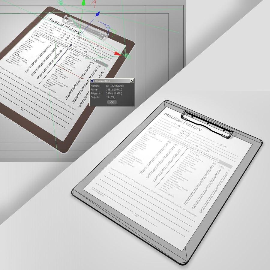 クリップボード royalty-free 3d model - Preview no. 4
