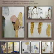 The collection of contemporary paintings set-5 3d model