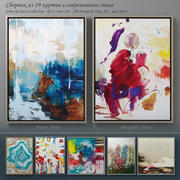 The collection of contemporary paintings set-4 3d model