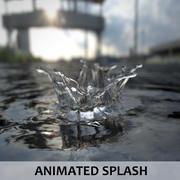 Animated Splash - Subivison Fluid 3d model