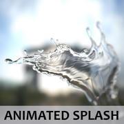 Animação Splash - Subdivion 3d model