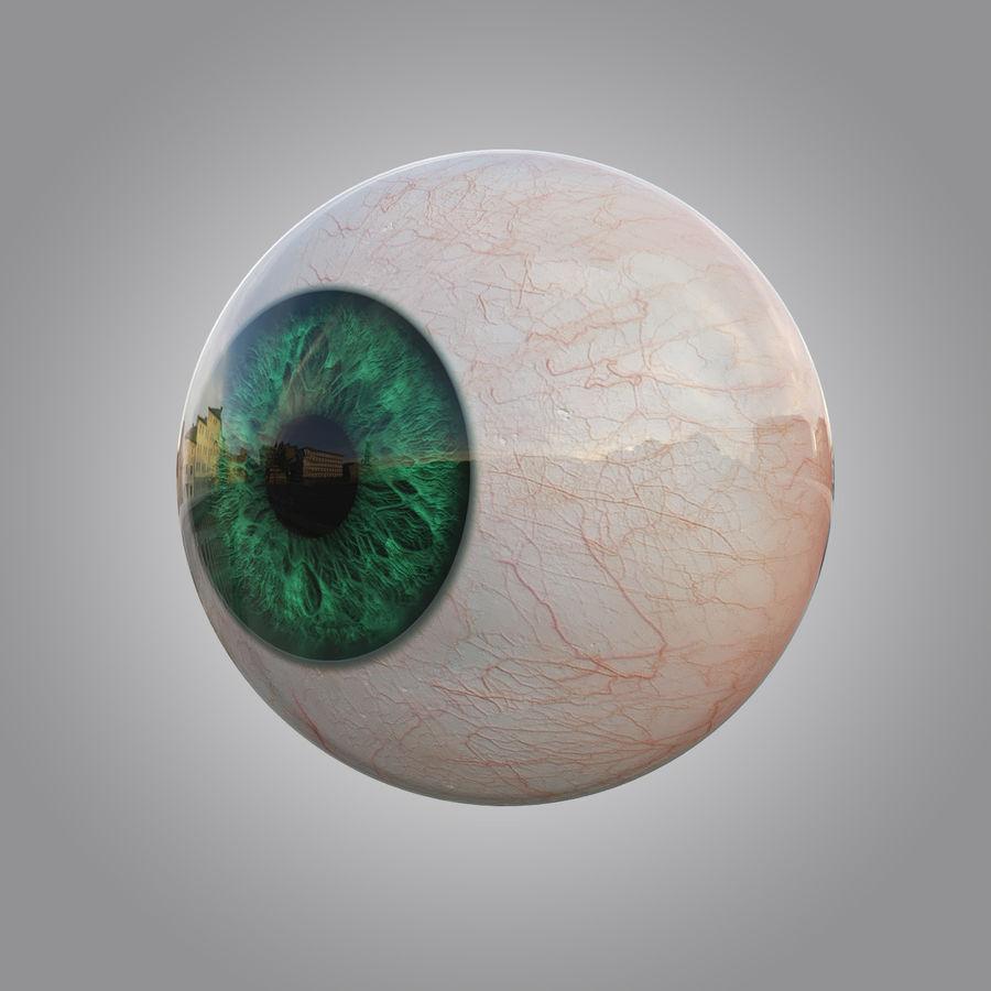 Œil vert humain royalty-free 3d model - Preview no. 1