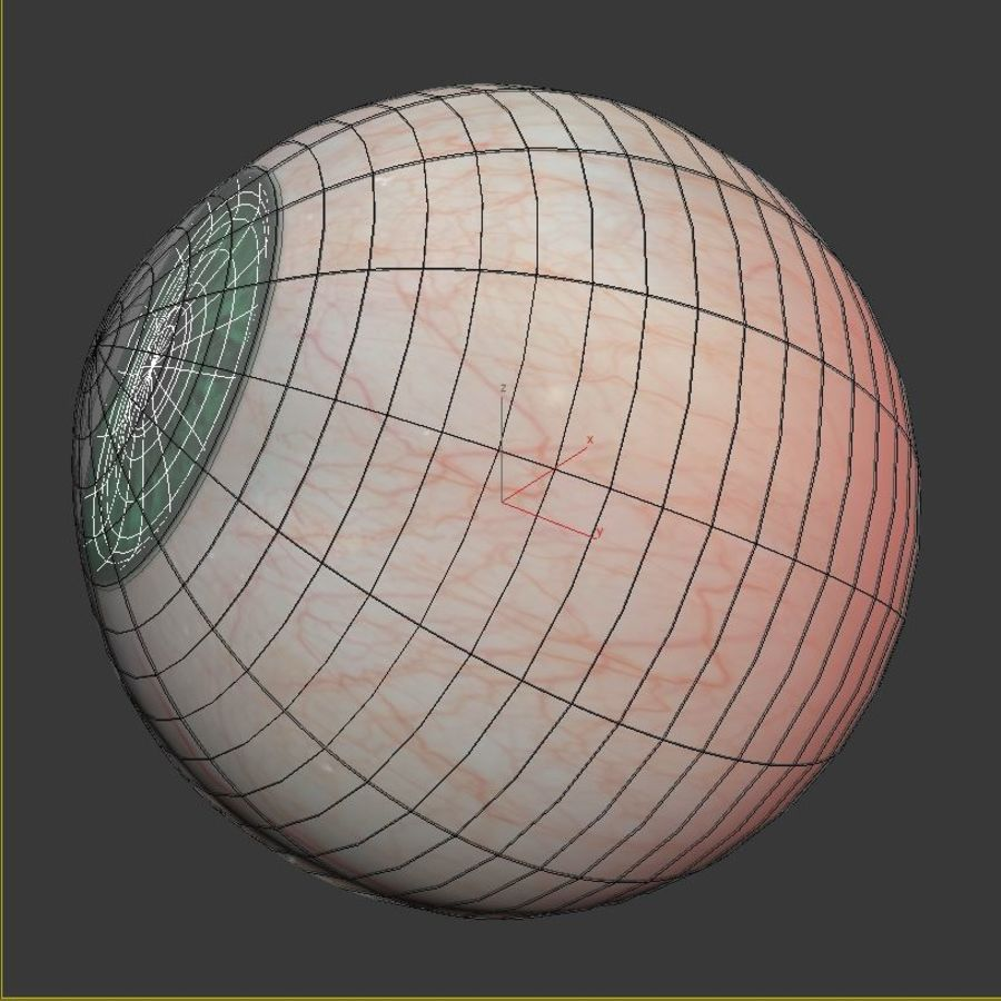 Œil vert humain royalty-free 3d model - Preview no. 8