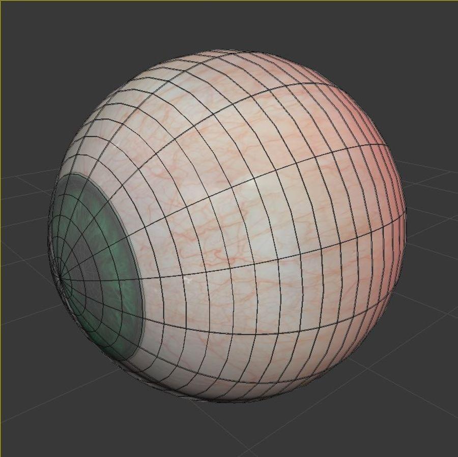Œil vert humain royalty-free 3d model - Preview no. 7