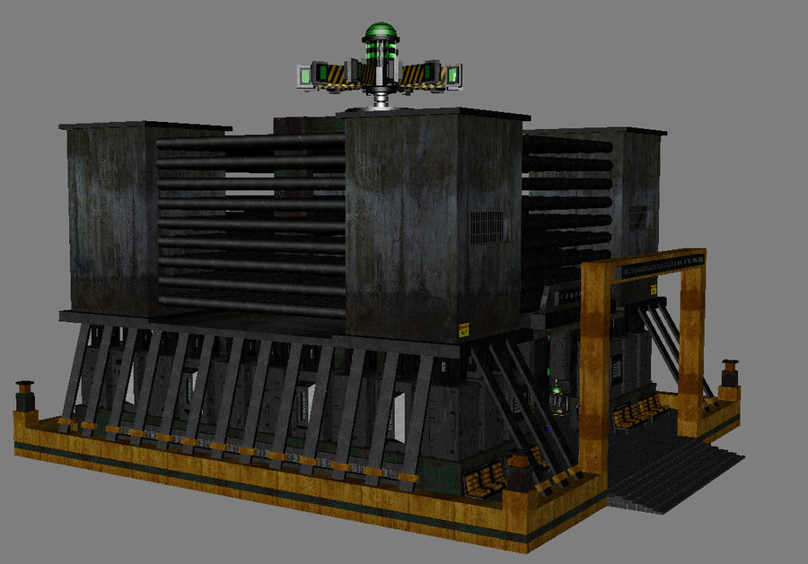 Sci-Fi Building royalty-free 3d model - Preview no. 7