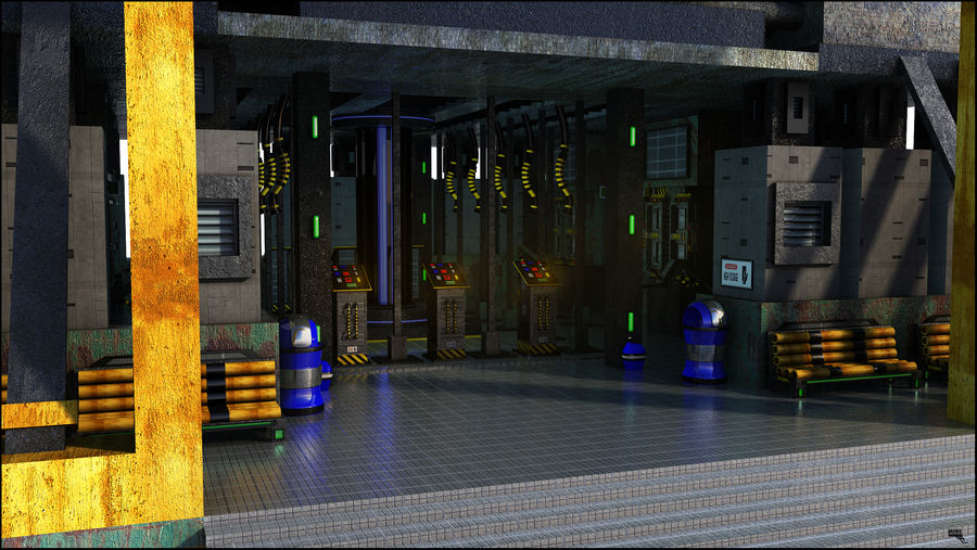 Sci-Fi Building royalty-free 3d model - Preview no. 2