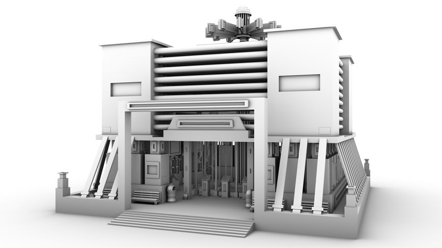 Sci-Fi Building royalty-free 3d model - Preview no. 13