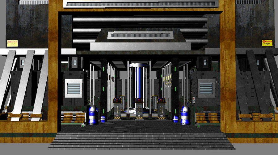 Sci-Fi Building royalty-free 3d model - Preview no. 4