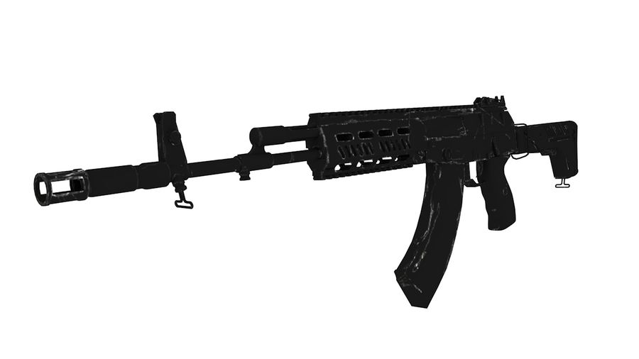 AK12 royalty-free 3d model - Preview no. 1