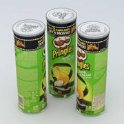 Pringles Crème Aigre et Oignon 165g 3d model