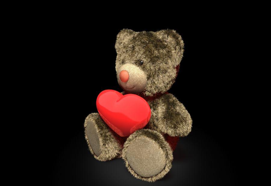 Teddy Bear Fur royalty-free 3d model - Preview no. 4
