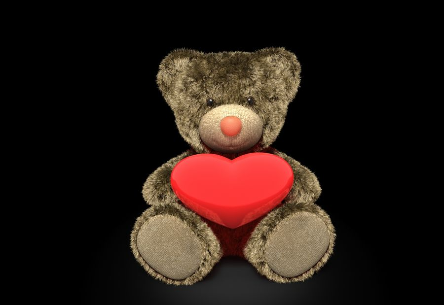 Teddy Bear Fur royalty-free 3d model - Preview no. 2