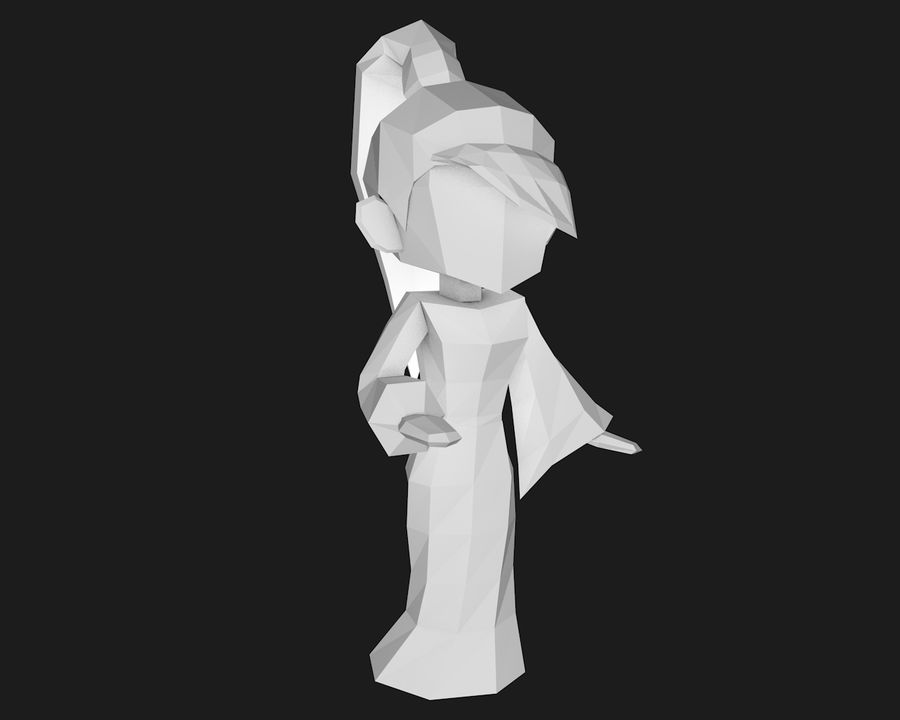 Papercraft-01 royalty-free 3d model - Preview no. 1