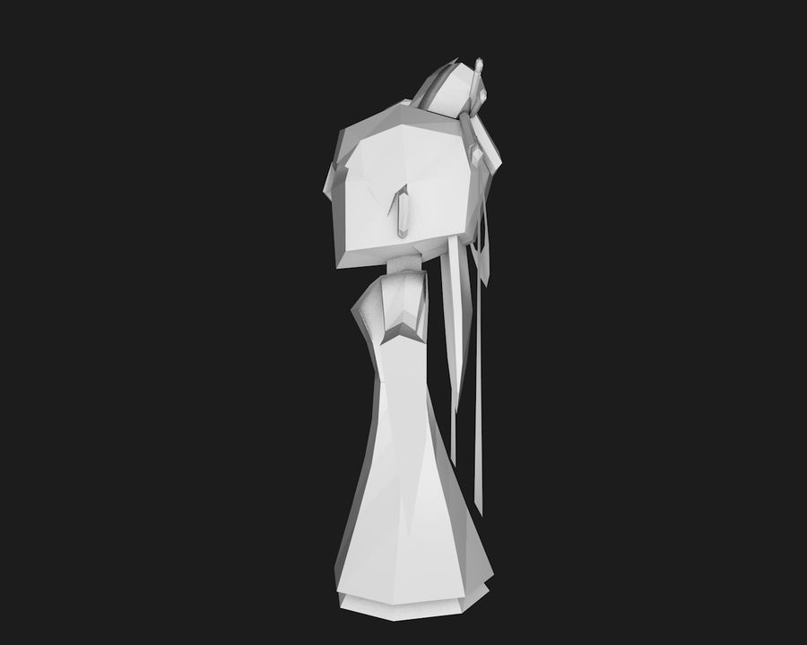 Papercraft-02 royalty-free 3d model - Preview no. 4
