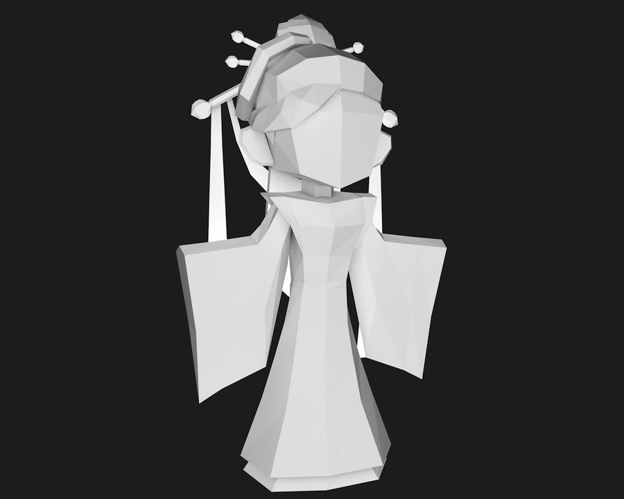 Papercraft-02 royalty-free 3d model - Preview no. 1