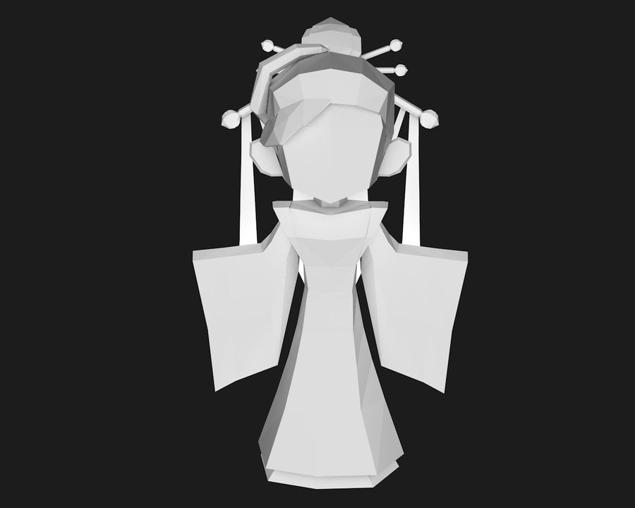 Papercraft-02 royalty-free 3d model - Preview no. 2