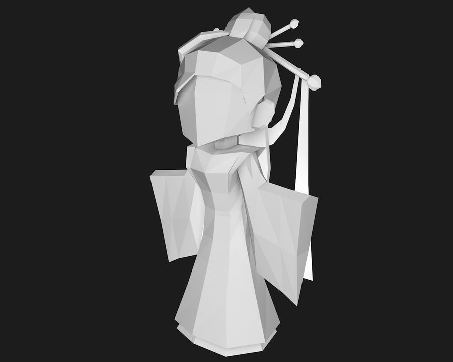 Papercraft-02 royalty-free 3d model - Preview no. 3