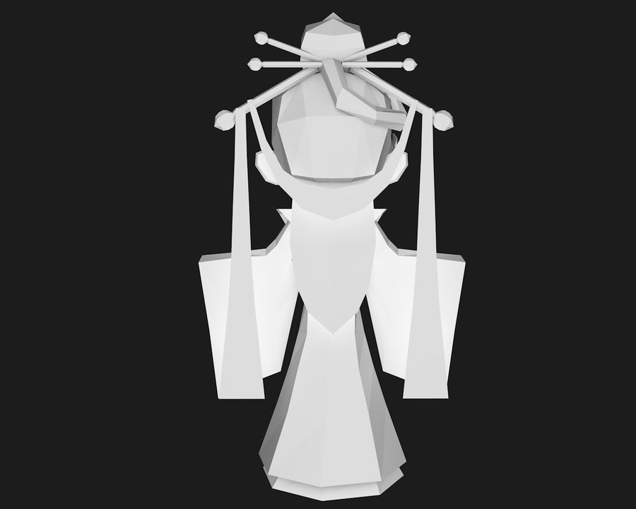 Papercraft-02 royalty-free 3d model - Preview no. 5