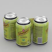 Napój puszka Schweppes Lemon 330ml 3d model