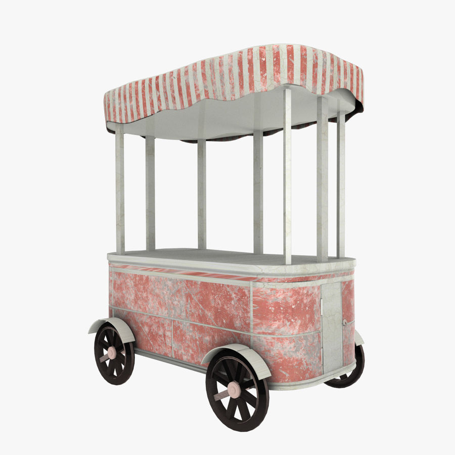 Street Cart royalty-free 3d model - Preview no. 1