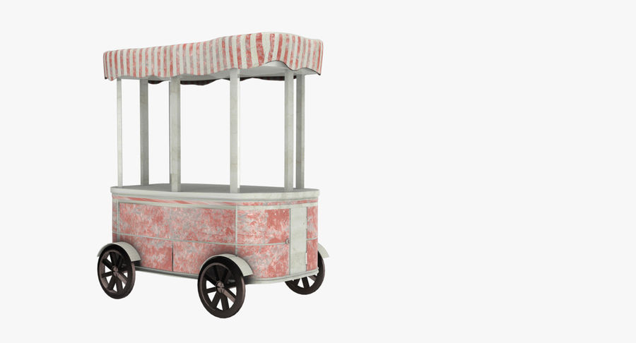 Street Cart royalty-free 3d model - Preview no. 3