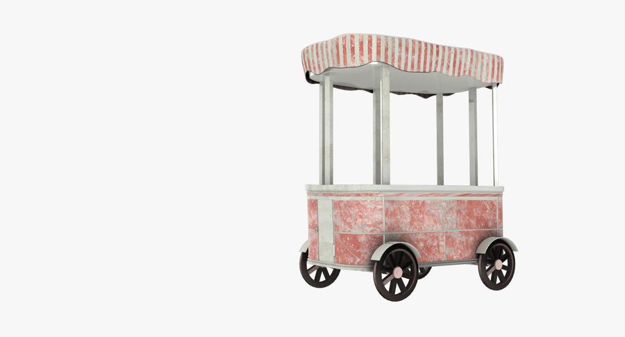 Street Cart royalty-free 3d model - Preview no. 2