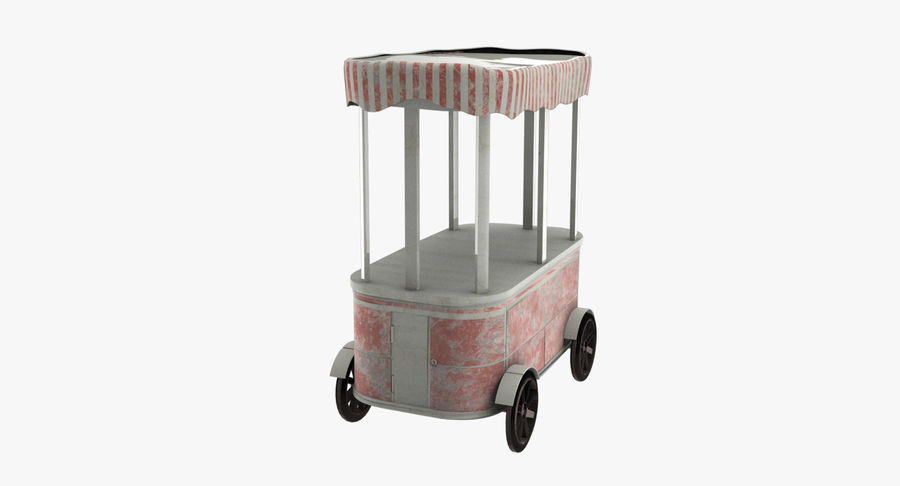 Street Cart royalty-free 3d model - Preview no. 5
