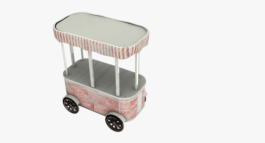 Street Cart royalty-free 3d model - Preview no. 4