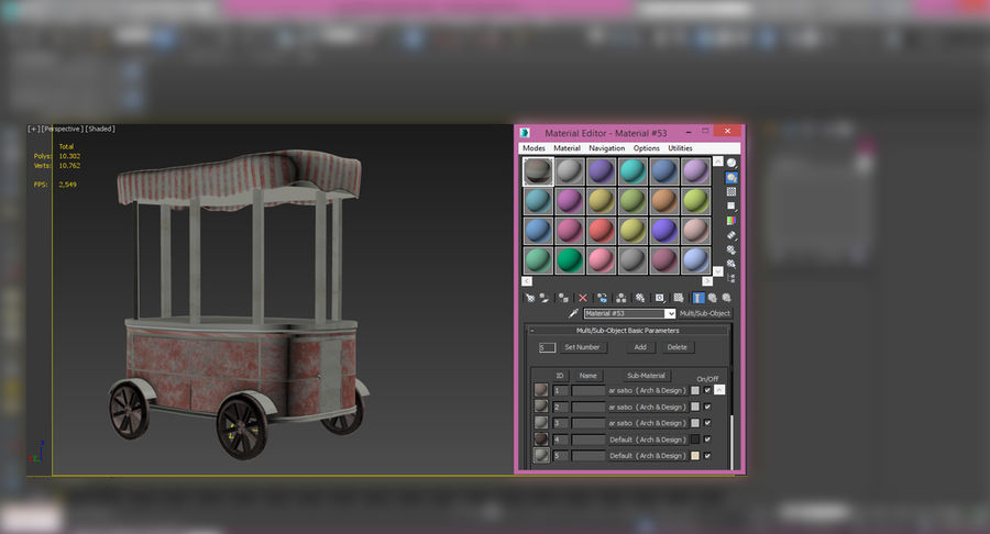 Street Cart royalty-free 3d model - Preview no. 9