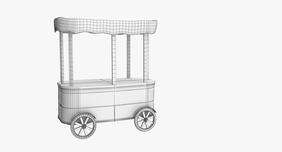 Street Cart royalty-free 3d model - Preview no. 6