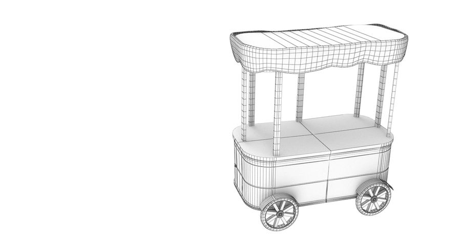 Street Cart royalty-free 3d model - Preview no. 8
