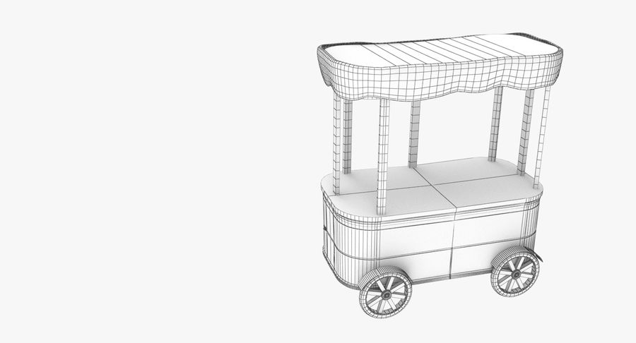 Street Cart royalty-free 3d model - Preview no. 7