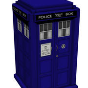 Doctor Who Tardis in tempo reale 3d model