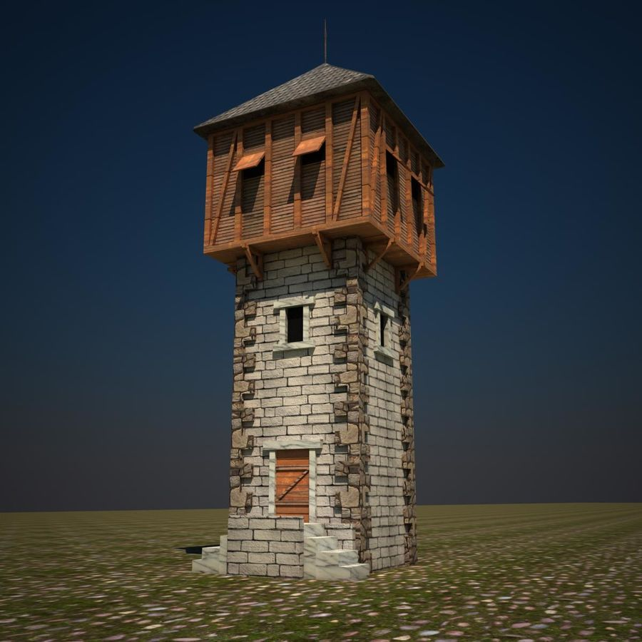 Wieża royalty-free 3d model - Preview no. 1