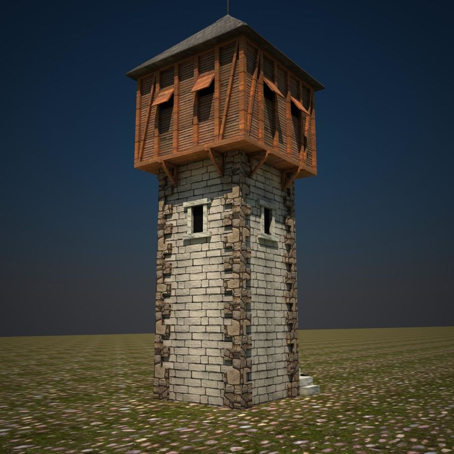 Wieża royalty-free 3d model - Preview no. 3