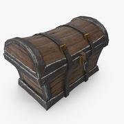 Scrigno di legno 3d model