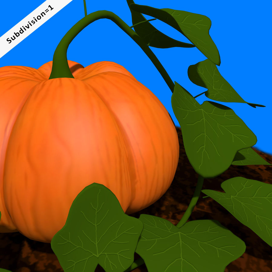 Pumpkin Plant royalty-free 3d model - Preview no. 5