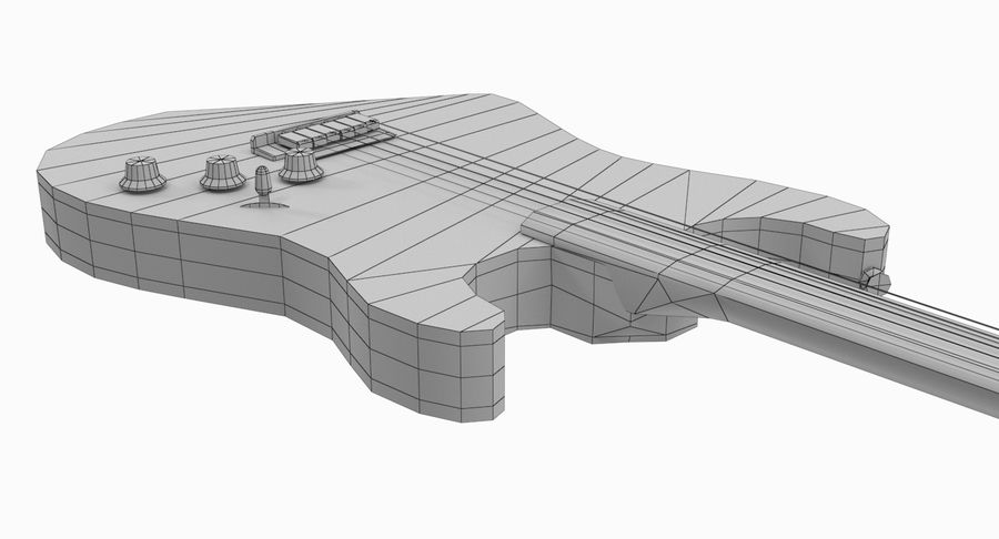 Lowpoly Fender Stratocaster Gitarre royalty-free 3d model - Preview no. 16