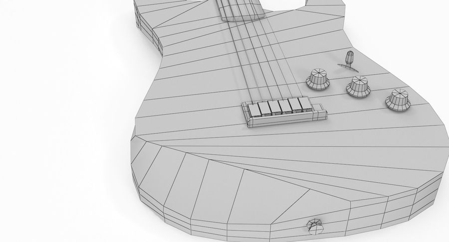 Lowpoly Fender Stratocaster Gitarre royalty-free 3d model - Preview no. 13