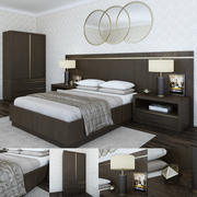 Bezier Bed Collection RH 3d model