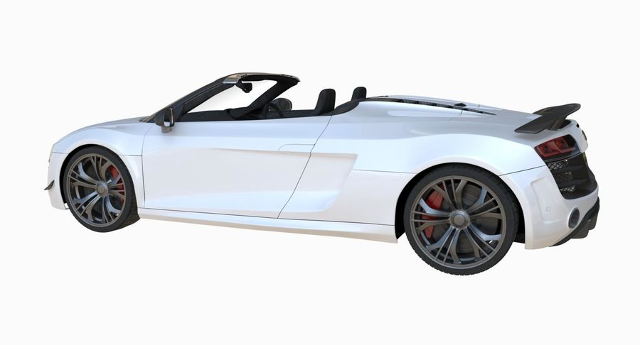 Audi R8 GT Spyder royalty-free 3d model - Preview no. 9